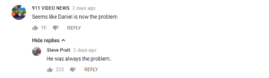 Karate Kid - Youtube Comment. Daniel has always been the problem